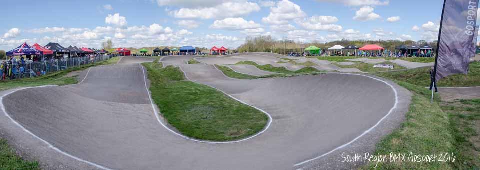 Panoramic view of Gosport BMX track