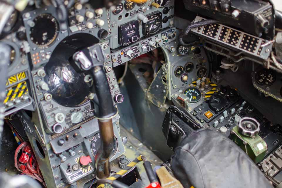 Cockpit section from Harrier GR Mk3 XV760 at Solent Sky Museum