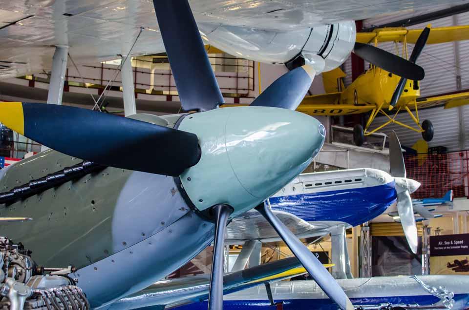 Spitfire exhibit PK683 at Solent Sky Museum