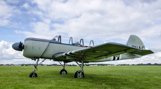 Yakovlev Yac 52 G-RNAC at Solent Airport Daedalus 100 years event
