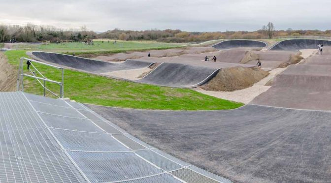 Final touches to the new Gosport BMX club track