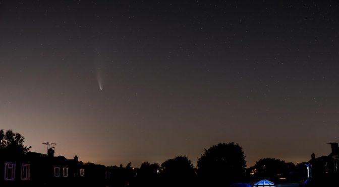 Comet Neowise photographed from Stubbington, Fareham